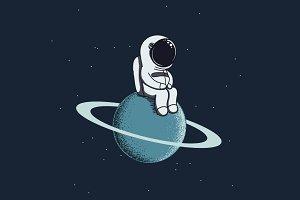 Cute spaceman