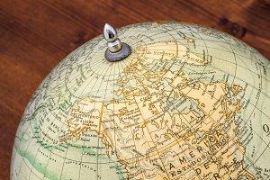 Old world globe: Canada