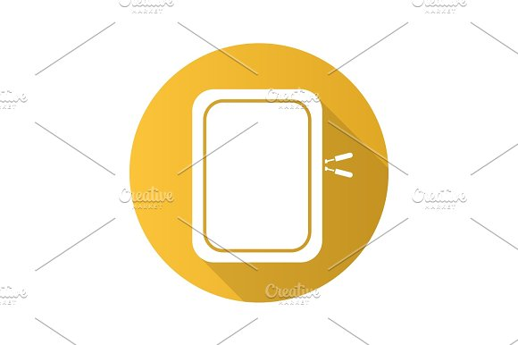 Gadget Protective Case Flat Design Long Shadow Icon