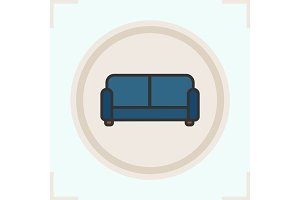 Couch color icon