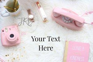 Pink Vintage Props Styled Mockup