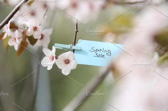 Spring Sale Concept Blurred Photo For Background