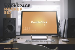 Workspace Mockup Set 6