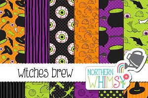 Halloween Seamless Patterns -