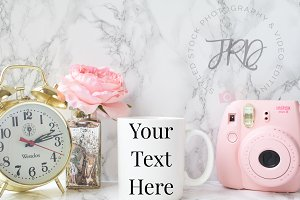 Pink & Gold Mug Mockup Styled Stock