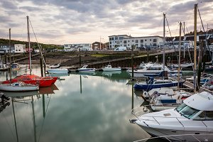 New Heaven Harbour at sunset, Sussex