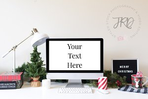 Desktop Christmas Styled Stock Photo