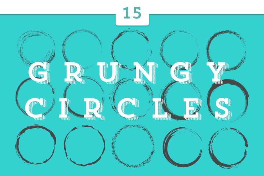 15 Grungy Circles