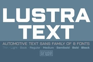 Lustra Text Family