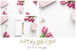 Pink Tulip Styled Desktop Bundle