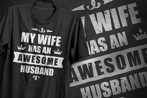 Awesome Husband - T-Shirt Design