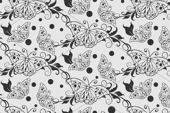 Seamless Butterfly Pattern Graphic Patterns Creative Market New Butterfly Pattern
