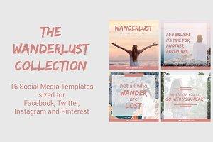Social Media Templates | Wanderlust