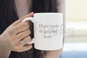Mug Mockup styled stock photograph