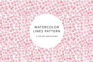 Watercolor Lines Pattern