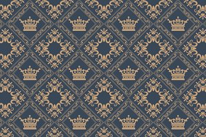 Interior design. Wallpaper pattern