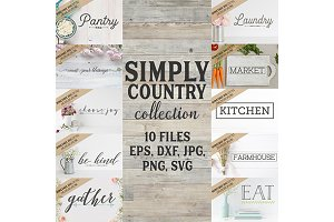Simply Country Collection cut files