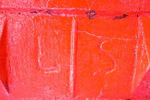 Paint Rock in Red