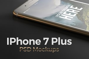 Iphone 7 Plus. PSD Mockups