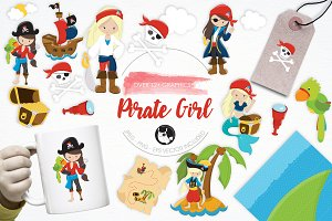 Pirate Girl illustration pack