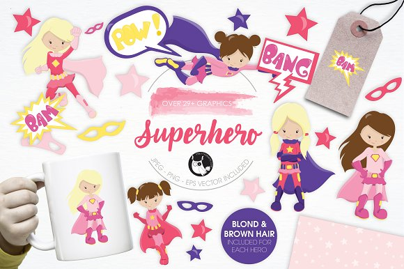 Super Hero Illustration Pack