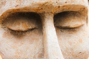 Sculpture´s eyes Detail