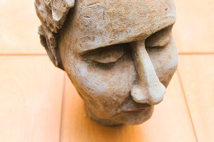 Sculpture´s head detail