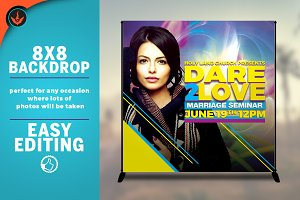 Dare 2 Love 8x8 Backdrop Template