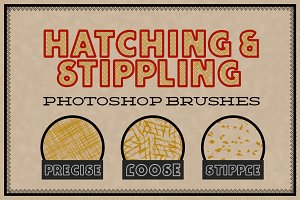 Hatching and Stippling Brushes