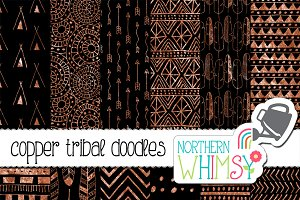Black and Copper Tribal Patterns