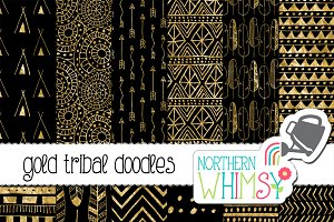 Black & Gold Tribal Patterns