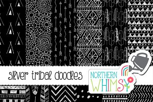Black & Silver Tribal Patterns