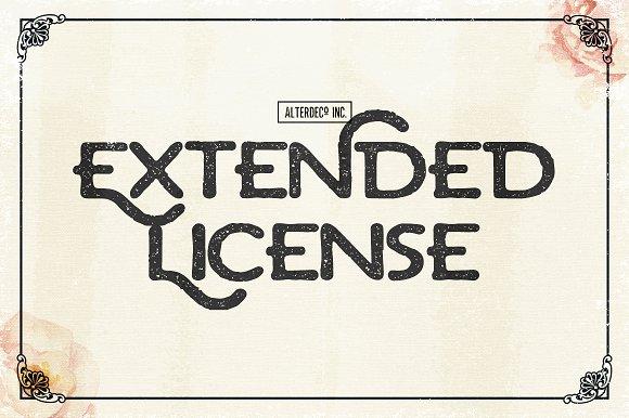 Extended License For Font