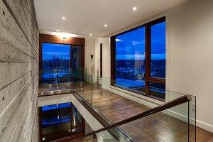 Contemporary Concrete Hallway