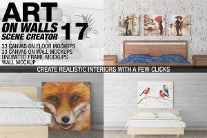 Canvas Mockups - Frames Mockups v 17