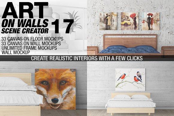 Download Canvas Mockups - Frames Mockups v 17