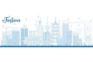 Outline Foshan Skyline