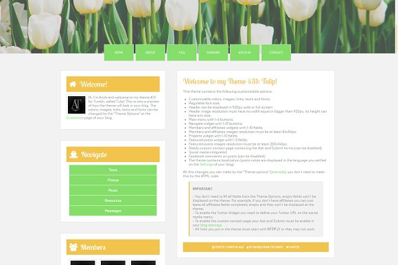Tulip Tumblr Theme