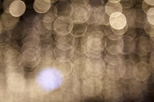 City night light blur bokeh defocused