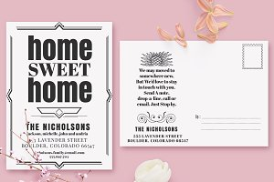 Art Deco Moving Announcements Card