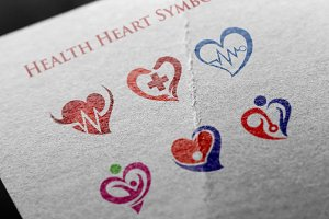 6 Heart Health Healthy Medical Logo