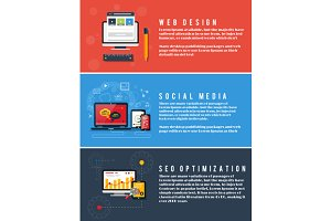 Seo Optimization, Web Design, Social