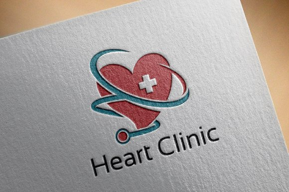 Heart Health Clinic Logo Template