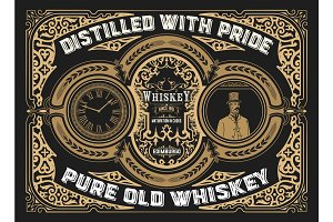 Vintage Whiskey Label