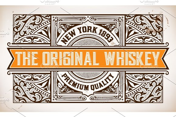 Retro Label With Western Style