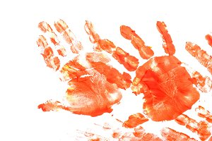Imprint of children's hand