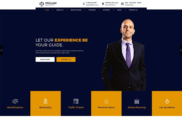 Prolaw Legal Law Firm HTML Templates