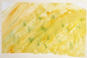Yellow green abstract gouache