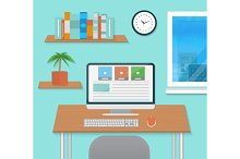 Set modern Office Interior