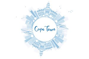 Outline Cape Town skyline